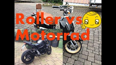Motorrad Vs Roller by Roller Vs Motorrad Retro Roller Gegen Suzuki Gsr 750