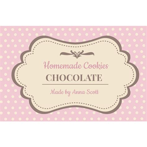 Brown Cookie Label Cookies Label Template