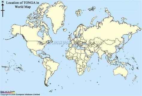 tonga on a world map tonga map