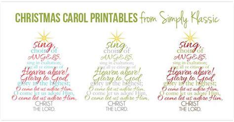 printable version of a christmas carol simply klassic home christmas carol printables three