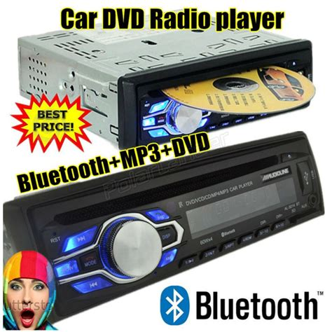 new 1 din 12v car radio bluetooth dvd vcd cd tuner stereo fm mp3 audio player phone usb sd mmc