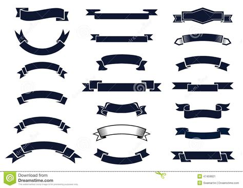 classic design banner classic vintage ribbon banners stock vector image 47459921