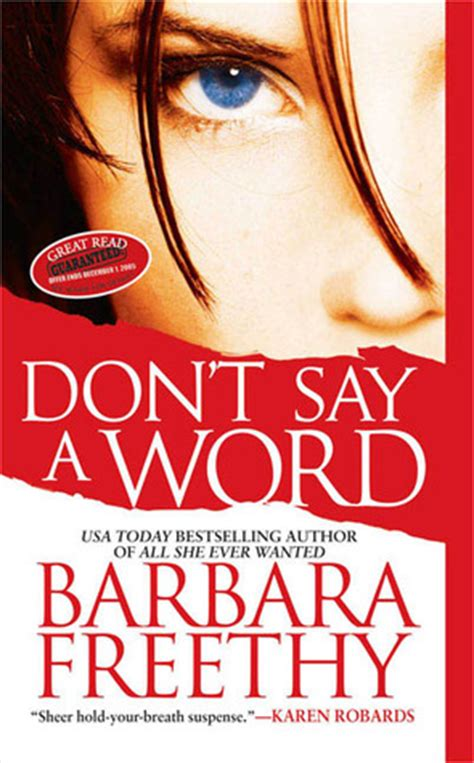 shhh don t say the a word books don t say a word by barbara freethy reviews discussion