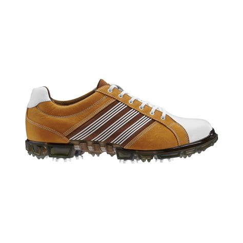 adidas adicross tour golf shoes mens wheat white leather at intheholegolf
