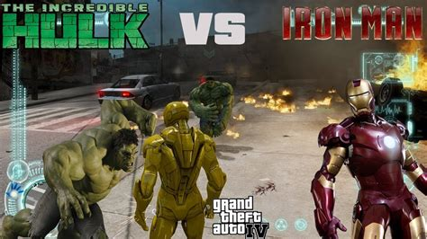 mod gta 5 pc hulk gta iv hulk mod iron man mod the epic battle hulk vs