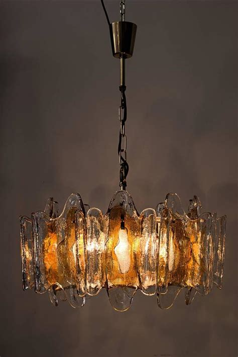 Orange Chandeliers Kalmar Textured Orange Glass Chandelier For Sale At 1stdibs