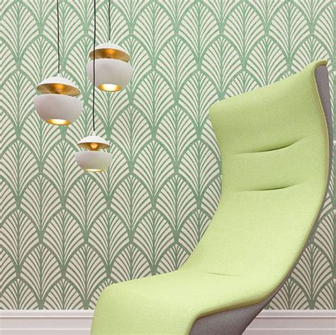 simple pattern on wall jazz large wall stencil and gatsby on pinterest