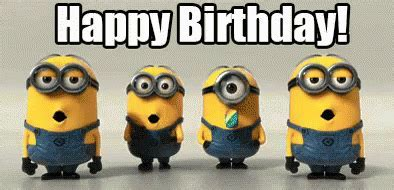Minion Happy Birthday Animated Gif Pictures, Photos, and