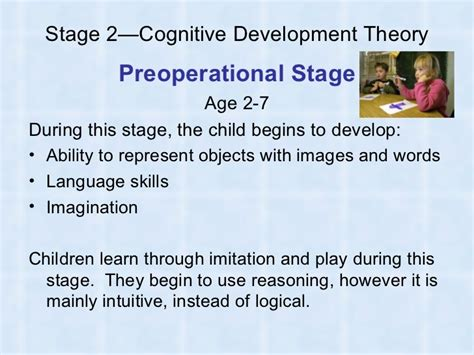 Cognitive Development Theory Preoperational Stage Essays