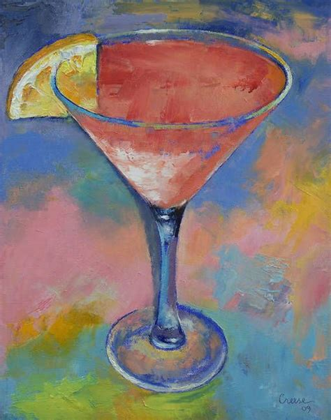 pink martini poster quot marilyn monroe martini quot by michael creese oil on canvas