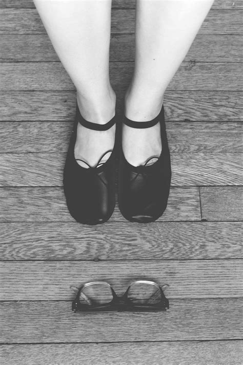 Free Images : hand, shoe, black and white, wood, girl