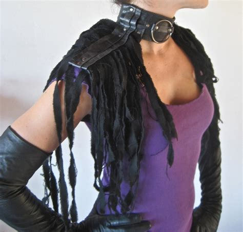 Shredded Leather Is That A Thing Now by Leather Collar Epaulettes Shredded Couture