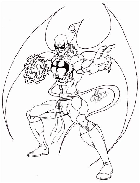 Iron Fist Coloring Pages Coloring Home Iron Coloring Page