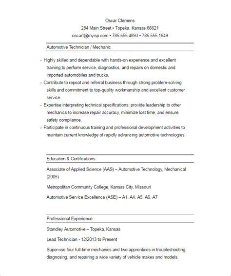 Auto Estimator Sle Resume by Automobile Estimator Resume