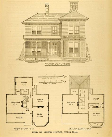house plans architectural 1878 print house architectural design floor plans
