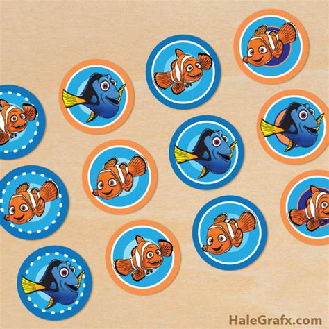 nemo cake template free printable finding nemo cupcake toppers
