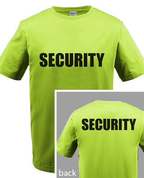 Tshirt Event Security security t shirt event bouncer staff guard safety