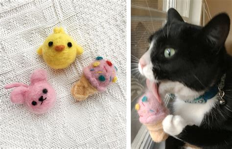 Diy Cat Toys From Marmalade by Collagepdx Diy Needlefelted Cat Toys