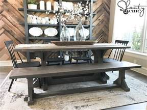 Diy Dining Room Table For 10 Diy Industrial Corbel Dining Bench Shanty 2 Chic