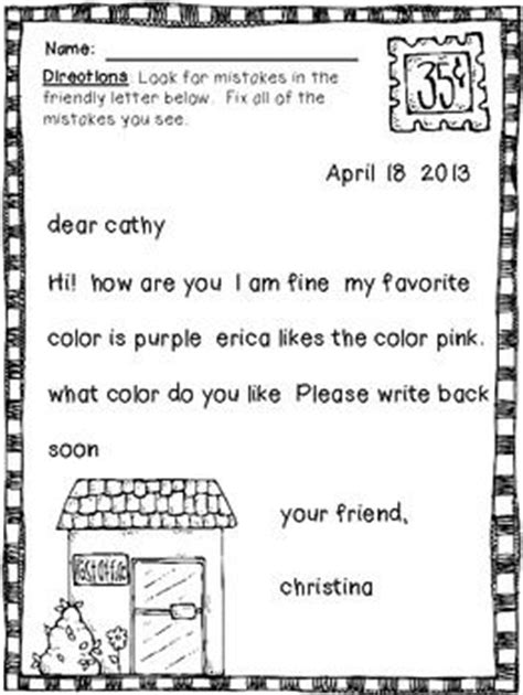 Thank You Letter Format 2nd Grade 25 Best Ideas About Friendly Letter On Letter Writing Letter Writing In
