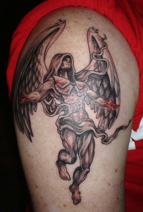 60 holy angel tattoo designs art and design image gallery kneeling angel of death