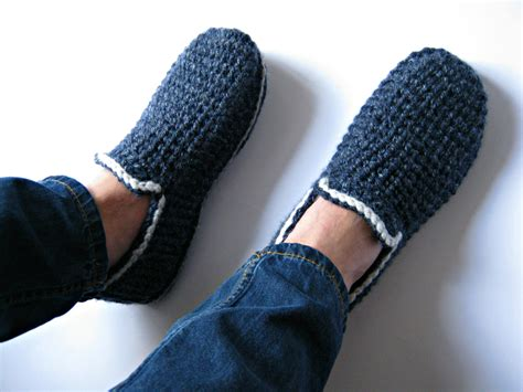 crochet house shoes felt soles crochet slippers house slippers men loafers