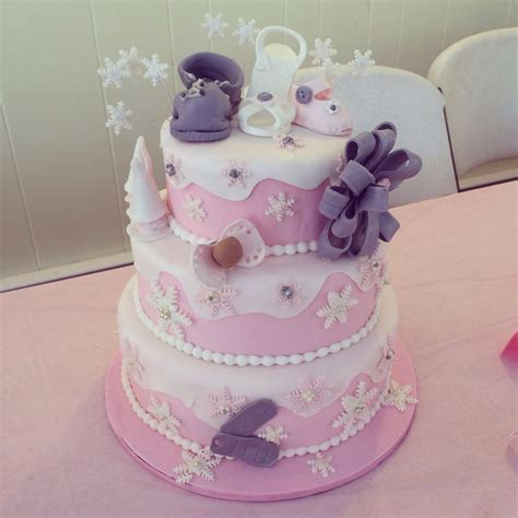 Winter Baby Shower Cake by Winter Baby Shower Cake Custom Cakes By