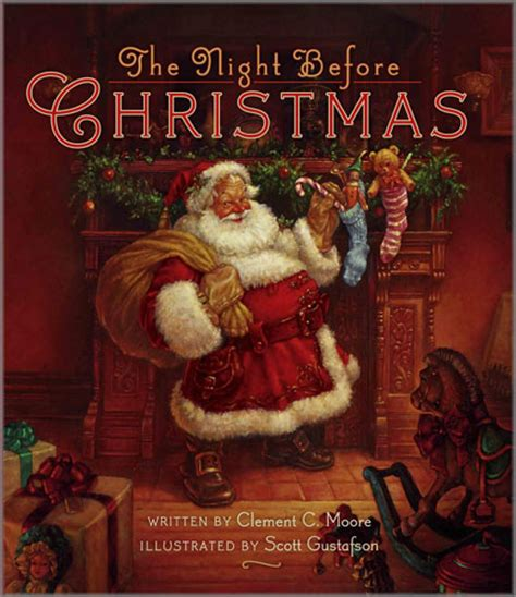 the night before christmas scott gustafson twas the night before christmas books