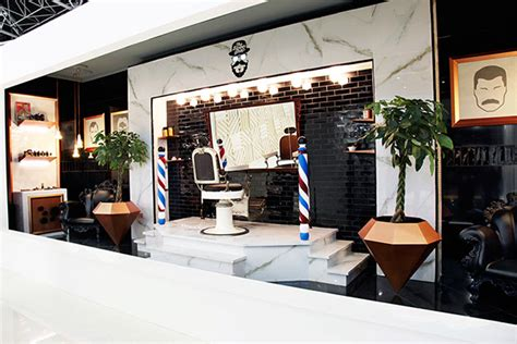 the barber shop interior design concept on behance