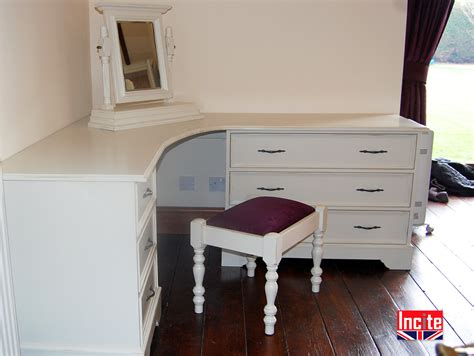corner vanity table with drawers custom made painted corner dressing table by incite derby