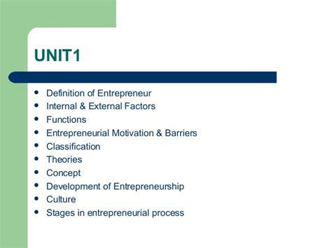 Mba Entrepreneurship Meaning by Ppt On Entrepreneur