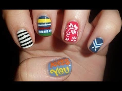 tutorial nail art one direction one direction kiss you inspired nail art youtube
