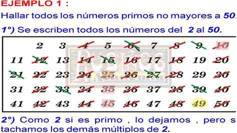 imprimir los 10 primeros numeros primos youtube criba de eratostenes como hallar los n 250 meros primos