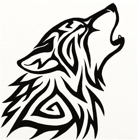 The Gallery For Gt Tribal Wolf Head Black Wolf Designs