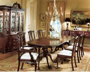 Dining Table And Buffet Set Mahogany Chippendale Dining Table China Cabinet And Buffet Table