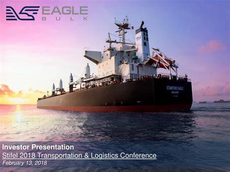 eagle bulk shipping egle presents at stifel 2018 transportation logistics conference