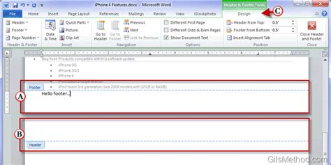 creating header and footer in word 2010 powerpoint template edit footer image collections