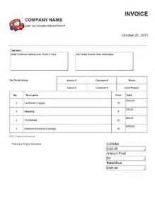 car rental invoice template free car rental invoice template