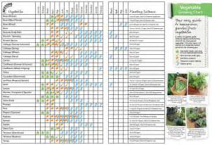 planting times for garden vegetables vegetable growing chart i like this at a glance chart
