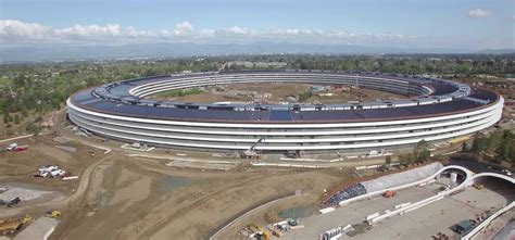 Drone Flyby drone flyby shows work on apple park cus buildings nearing completion