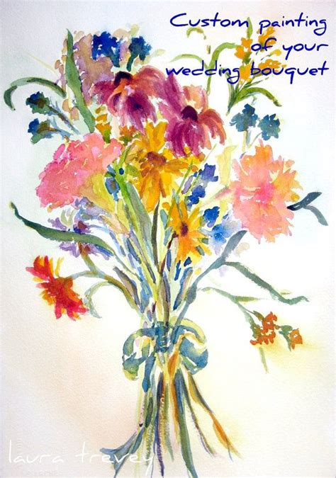watercolor tattoo dresden painting of your wedding bouquet this since i m not