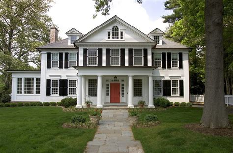 Colonial Home Architecture by The Most Popular Iconic American Home Design Styles