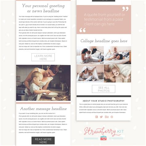 photography newsletter template photography newsletter template quot simply chic quot strawberry kit
