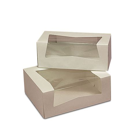 Combined Bath Shower pastry box with wrap around window