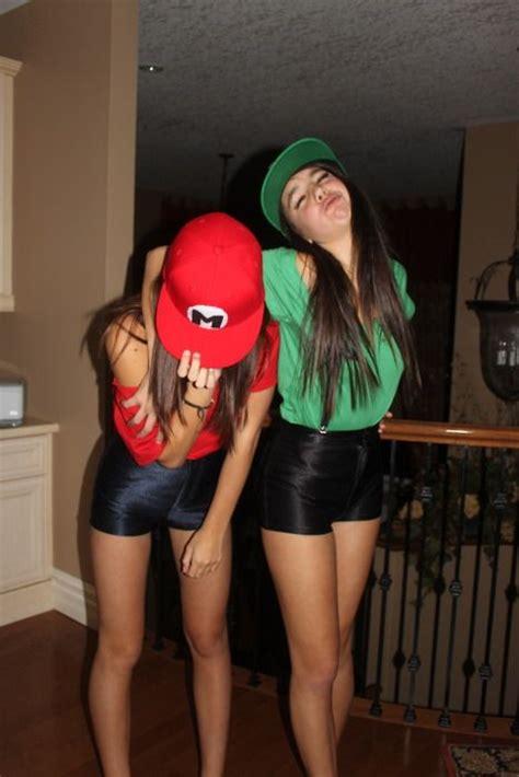 cute costume ideas  teenage girls mario  luigi