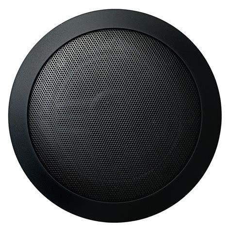 Mr. Steam Music Therapy 60 Watt 2 Way Indoor/Outdoor Round Speaker System Black (2 Pack) MS
