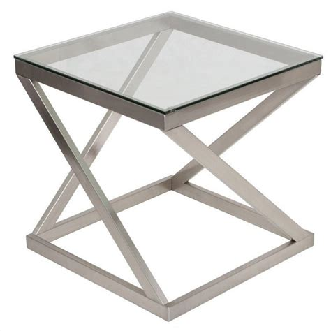 Nickel Table L Signature Design By Furniture Coylin End Table In Brushed Nickel T136 2