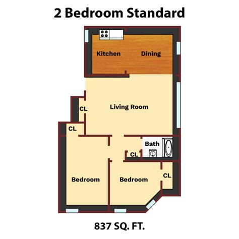 2 bedroom standard the jefferson apartments and suites