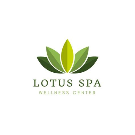 lotus health and wellness center green lotus wellness center logo templates by canva