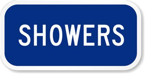 swimming pool showers sign sku k 5392